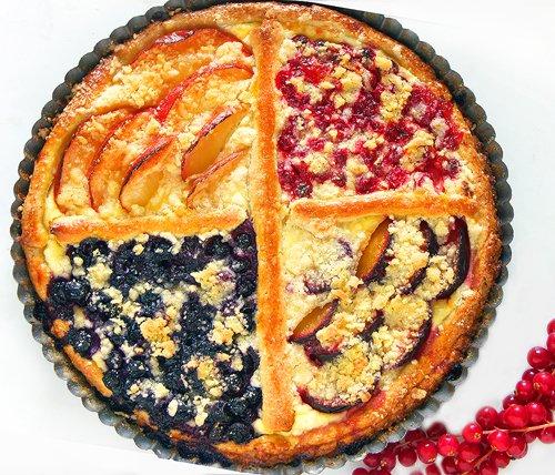 Фруктовый дрожжевой пирог рецепт с